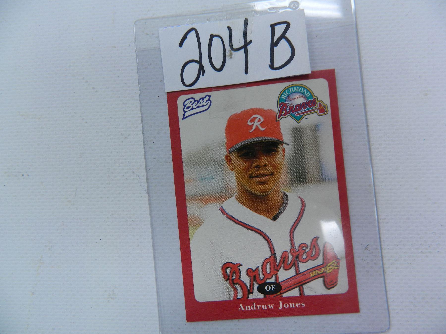 1996 Best Baseball Card 15 Andruw Jones Richmond Macon Braves