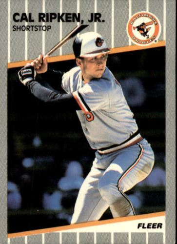 1989 Fleer 617 Cal Ripken Jr Baseball Card