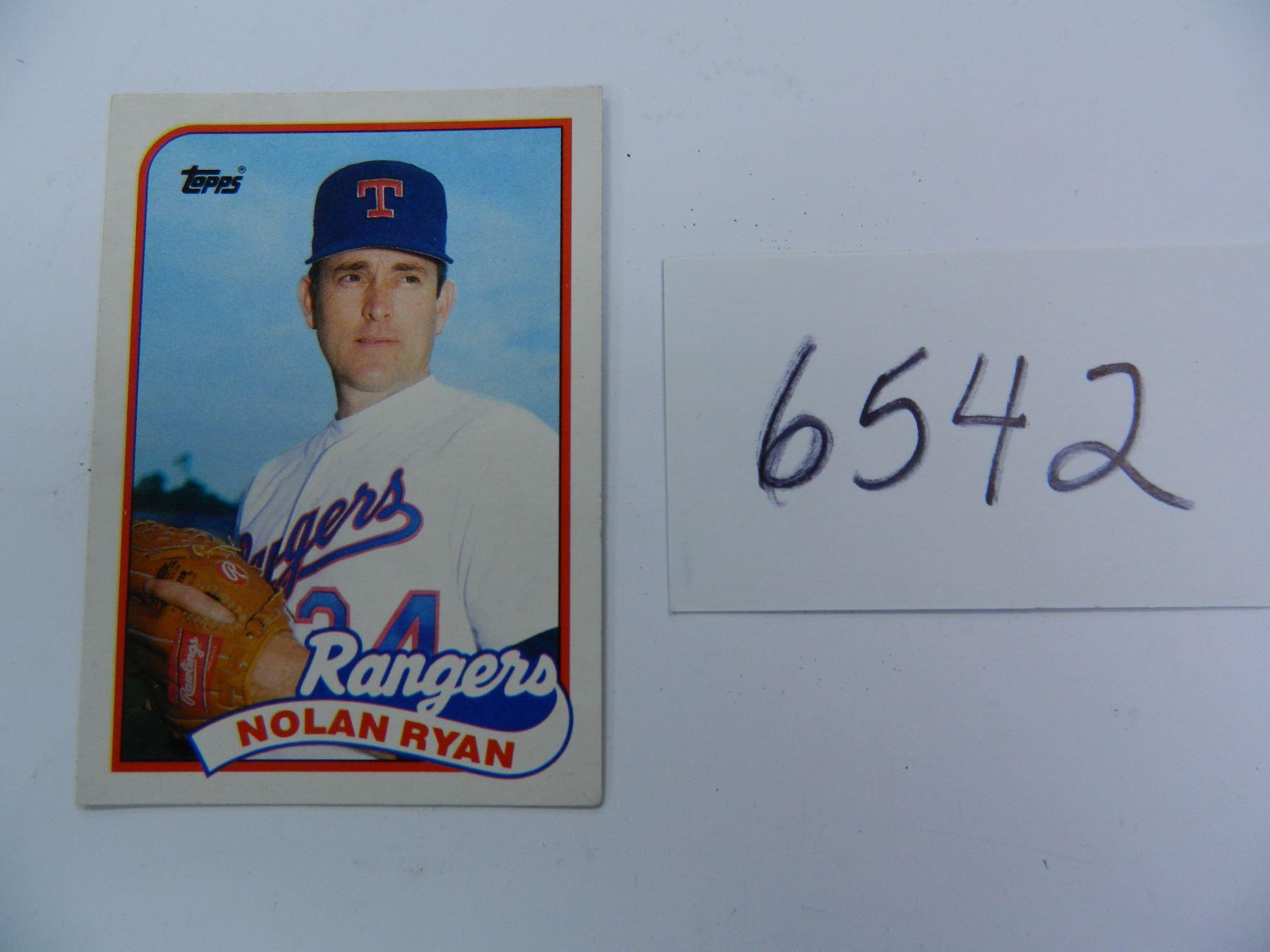 Four 4 1989 Topps Nolan Ryan 106t Baseball Cards All