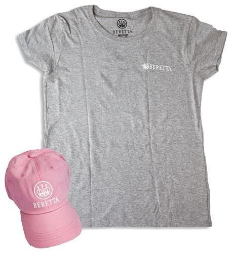 Beretta Women S Cap T Shirt 2x Lg Roll Up Combo Pink