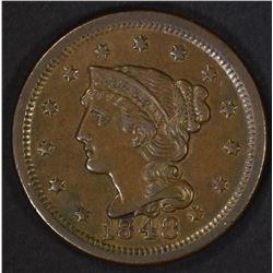 1848 LARGE CENT  AU