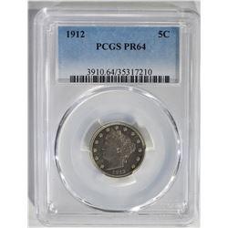 1912 LIBERTY NICKEL PCGS PR64