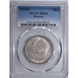 1923-S MONROE 50c PCGS MS64