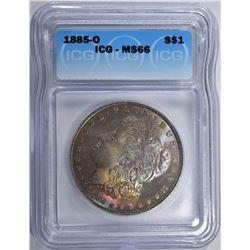 1885-O MORGAN DOLLAR ICG MS66