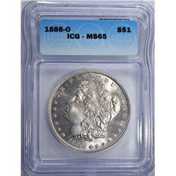 1888-O MORGAN DOLLAR ICG MS65