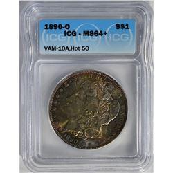 1890-O MORGAN DOLLAR ICG MS64+