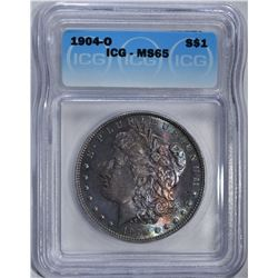 1904-O MORGAN DOLLAR ICG MS65