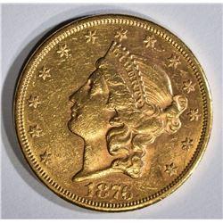 1876-CC $20 GOLD LIBERTY HEAD  BU