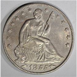 1855-O ARROWS SEATED LIBERTY HALF DOLLAR