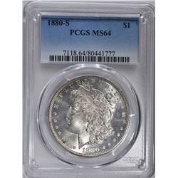 1880-S MORGAN DOLLAR  PCGS MS64