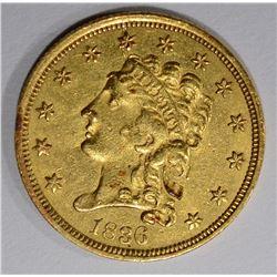 1836 $2.50 GOLD CLASSIC HEAD  AU