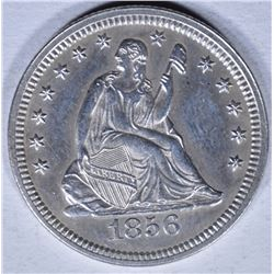 1856 SEATED LIBERTY QUARTER BU