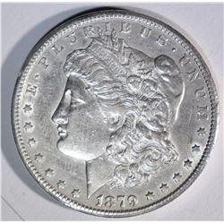 1879-CC  MORGAN DOLLAR AU+ small mark on rev.
