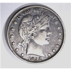 1892-O BARBER HALF DOLLAR, XF KEY COIN