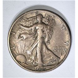 1921-S WALKING LIBERTY HALF, FULL XF RARE KEY DATE