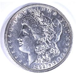 1892 MORGAN DOLLAR, AU+