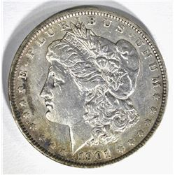 1901 MORGAN DOLLAR, AU ORIGINAL