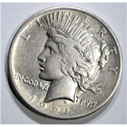 1921 PEACE DOLLAR, VF/XF
