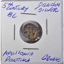 5th CENTURY BC SILVER DRACHM