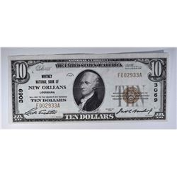 $10 TYPE 1 NATIONAL CURRENCY