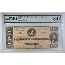 1864 $2 CONFEDERATE STATES OF AMERICA