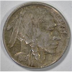 1919-D BUFFALO NICKEL  CH AU