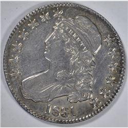 1831 CAPPED BUST HALF DOLLAR  AU/UNC