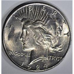 1924-S PEACE DOLLAR  BU