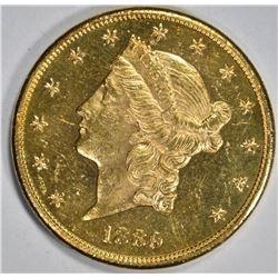 1889-S $20 GOLD LIBERTY HEAD  CH BU PL