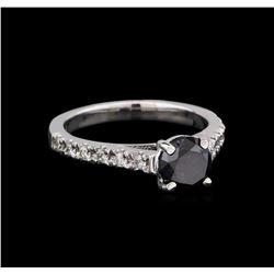 1.52 ctw Black Diamond Ring - 14KT White Gold