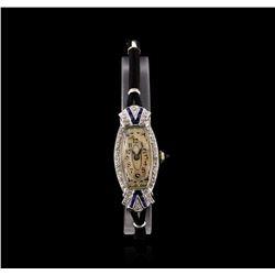 Zila Platinum Diamond Vintage Ladies Watch