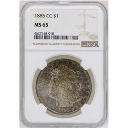 1885-CC $1 Morgan Silver Dollar Coin NGC MS65