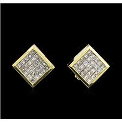 2.30 ctw Diamond Earrings - 18KT Yellow Gold