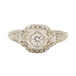 0.2 ctw Diamond Ring - 18KT White Gold