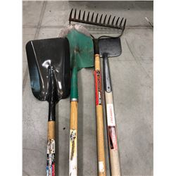 Grant Spade, Mastercraft shovel, lawn edger & rake