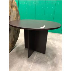 "Brown Office Table 42"" round x 29 1/2"""