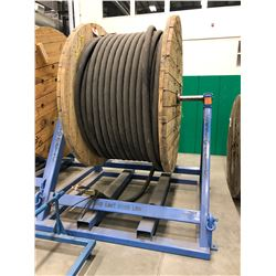 Reel-o-matic load limit of 10000 lbs.,  with Spool 3C 4/0 AWG 15KV SHD-GC Unjacketed