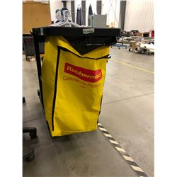 "Janitorial Cart 45"" x 21"" x 38 1/2"", comes with knee mat and 26 coat hangers"