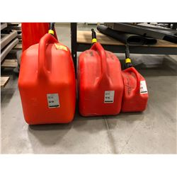 3 Gas Cans 25L, 20L & 5L. Gas included
