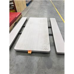 """Lifetime collapsible picnic table Grey 72"""" x 30"""" Top, Collapsible table 48"""" x 24"""" x 29"""", Arborite 60"""