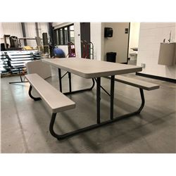 """Lifetime collapsible picnic table Grey 72"""" x 30"""" Top"""