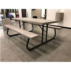 "Lifetime collapsible picnic table Grey 72"" x 30"" Top"