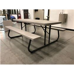 "Collapsible picnic table Grey 72"" x 30"" Top"