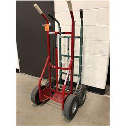 Dayton red wheeler model 3W087H, green wheeler