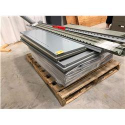 Grey adjustable shelving