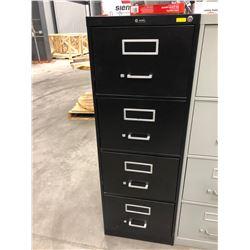 "File cabinet 4 drawer black no key 18"" x 52"" x 28 1/2"""