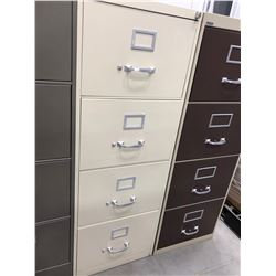 "File cabinet 4 drawer off white no key 18"" x 52"" x 26 1/2"