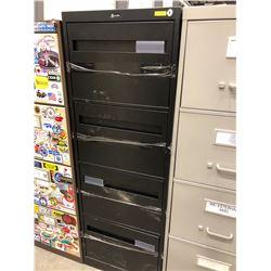 "File cabinet 4 drawer black no key 18"" x 52"" x 26 1/2"