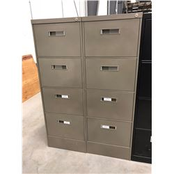 "2 File cabinet 4 drawer dark grey no key 18"" x 52"" x 28 1/2"""