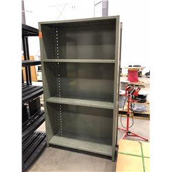 "Grey steel shelving 43 1/4"" x 15 1/4"" x 76"""